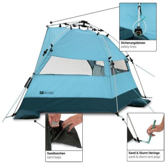 Qeedo šator za plažu Quick Bay, svijetlo plavi