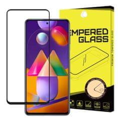 MG Full Glue Super Tough zaščitno steklo za Samsung Galaxy A71 / M51, črna