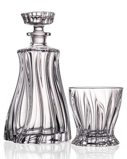 Aurum Plantica whisky set obsahuje 1 karafu o objemu 750ml a 2 whisky sklenice o objemu 320ml.