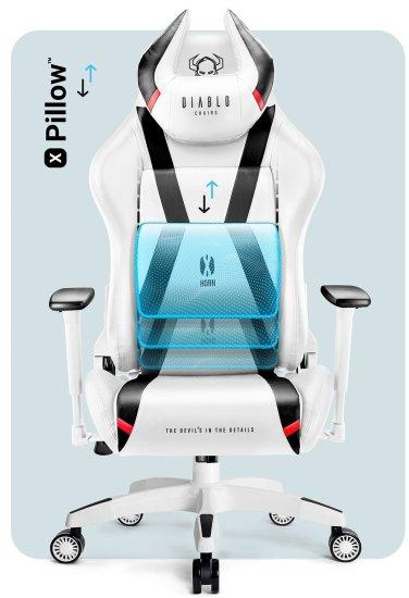 Diablo Chairs X-Horn 2.0, bílá/černá (5902560337853)