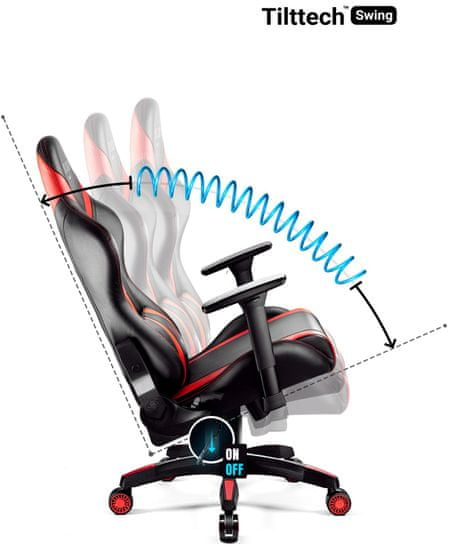 Diablo Chairs X-Horn 2.0, černá/červená (5902560337006)