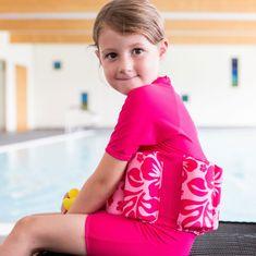 KONFIDENCE Plavalna obleka za učenje plavanja, Pink Hibiscus, za 2-3 leta