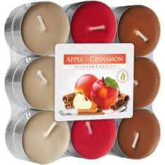 Bispol vonné čajové svíčky apple & cinnamon 18ks
