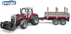 Bruder 2046 Farmer Massey Ferguson traktor s prikolicom
