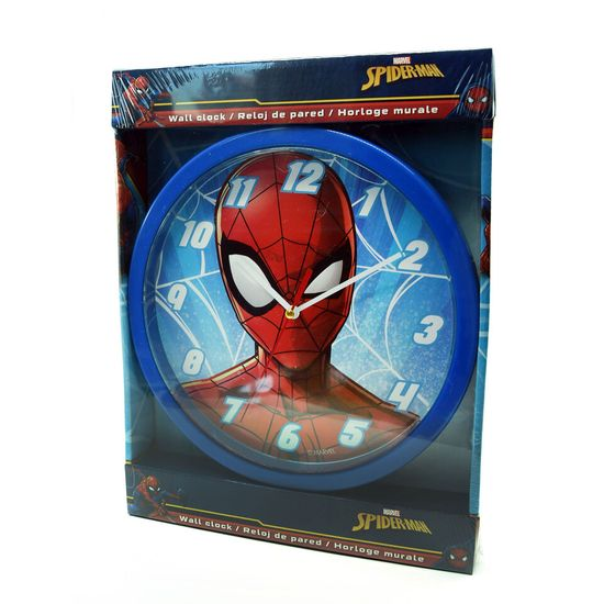 "EUROSWAN Otroška stenska ura ""Spiderman"" 25 cm - modra"