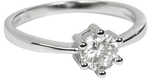 Brilio Silver Srebrny Acobrączkaz kryształem SRJ35 srebro 925/1000