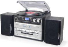 Soundmaster system MCD5550SW, retro Hi-Fi z DAB+, czarny/srebrny
