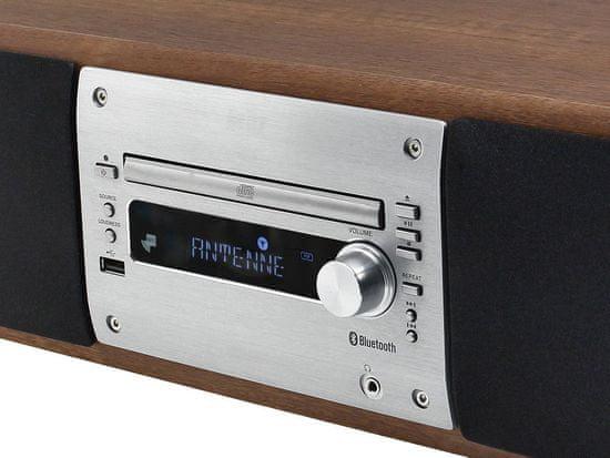 Soundmaster DAB1000, Hi-Fi systém s DAB+/FM, stříbrná/hnědá