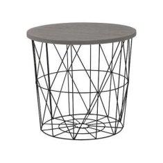 ATAN Odkládací stolek Mariffa - deska šedá/podnož černá