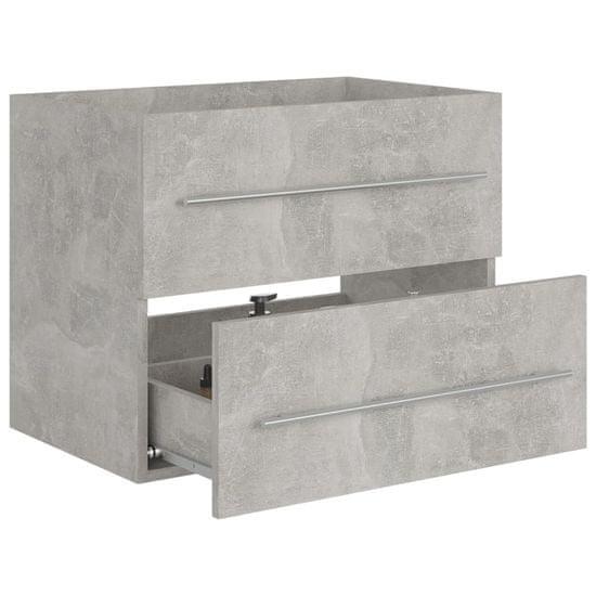 shumee betonszürke forgácslap mosdószekrény 60 x 38,5 x 48 cm