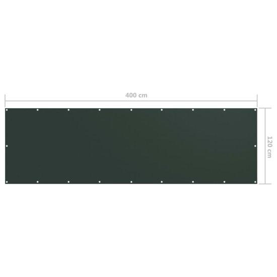 shumee sötétzöld oxford-szövet erkélyparaván 120 x 400 cm