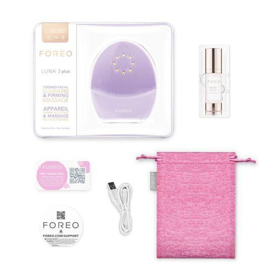 FOREO LUNA™ 3 Plus Thermo środek do mycia twarzy i tonizator mikroprądowy