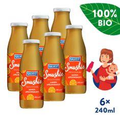 Salvest Smushie BIO Ovocné smoothie s mangom, ananásom a pomarančovou dužinou 6x (240 ml)