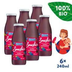 Salvest Smushie BIO Ovocné smoothie s borůvkami, malinami a černým rybízem 6x (240 ml)