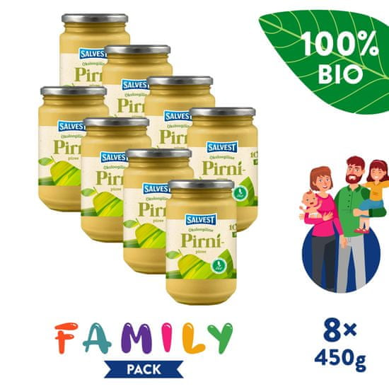 Salvest Family BIO Hruška 100% 8x (450 g)