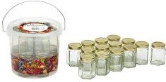 Marmeládová sklenice 195 ml 14 ks s kbelíkem 5,7 l