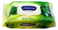 Vlhčené ubrousky 100 ks klip Aloe Vera
