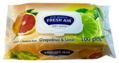 Vlhčené ubrousky 100 ks klip Grapefruit & Limetka