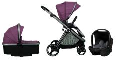 Casualplay Set sportovní kočárek Space, autosedačka Verai 0+ a korba - purple