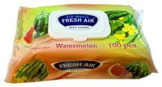 Fresh Air vlhčené ubrousky 100 ks klip Meloun