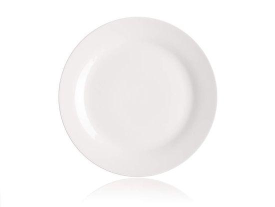 Set desertnih porculanskih tanjura BASIC, 19 cm, 6 komada bijeli