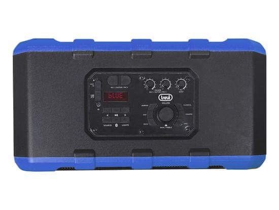 Trevi XF 1300 BEACH karaoke zvučnik, Bluetooth, IPX4, 80 W RMS, ugrađena baterija, DISCO svjetla, plavi