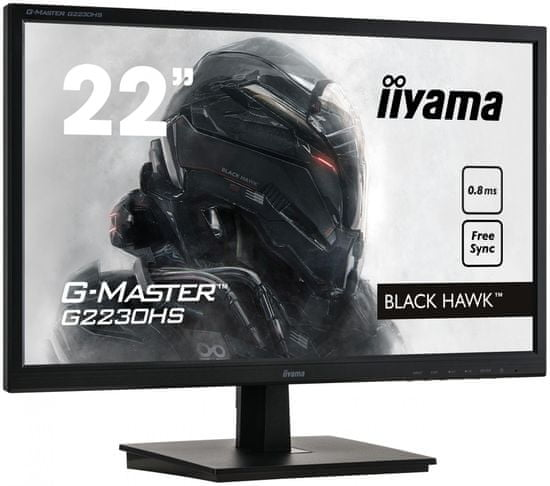 iiyama G-Master Black Hawk G2230HS-B1 monitor, 54.6 cm, TN, FHD