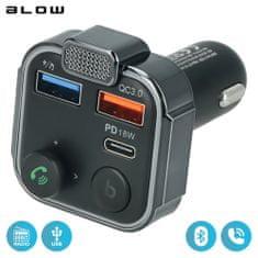 Blow BLOW 74-163 FM Oddajnik, Bluetooth 5.0 + polnilec QC3.0+PD 18W+prostoročno telefoniranje