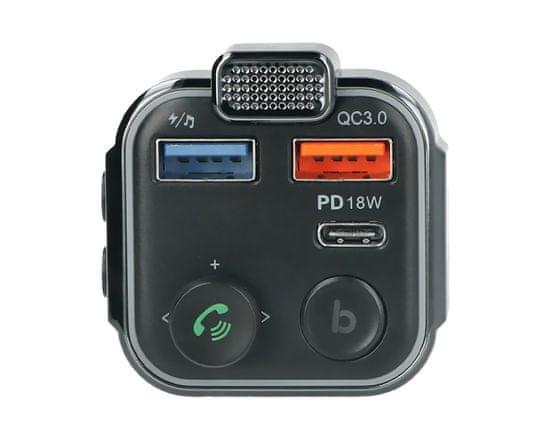 Blow BLOW 74-163 FM odašiljač, Bluetooth 5.0 + punjač QC3.0 + PD 18W + hands-free pozivi