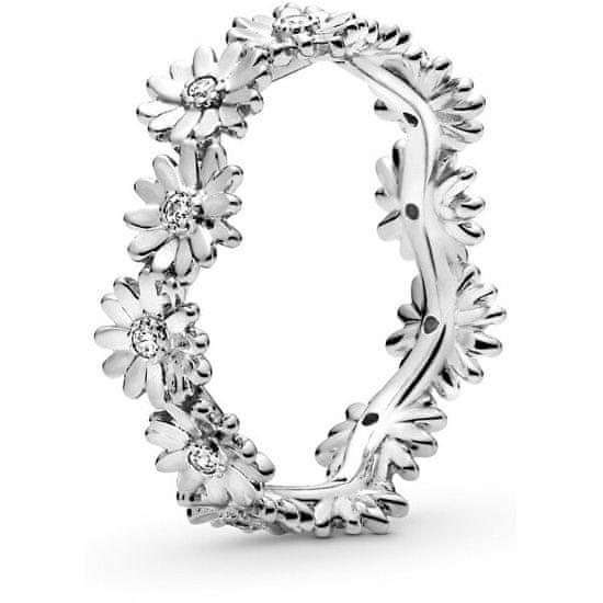 Pandora Stříbrný prsten Věneček sedmikrásek 198799C01 stříbro 925/1000