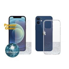 PanzerGlass Standard Antibacterial Bundle 2v1 pro Apple iPhone 12 mini (PanzerGlass sklo + čirý TPU obal) B2707