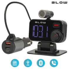 Blow BLOW 74-159 FM oddajnik, Bluetooth 5.0+polnilec+prostoročno telefoniranje+mikrofon, Super BASS