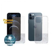 PanzerGlass Standard Antibacterial Bundle 2v1 pro Apple iPhone 12 Pro Max (PanzerGlass sklo + čirý TPU obal) B2709