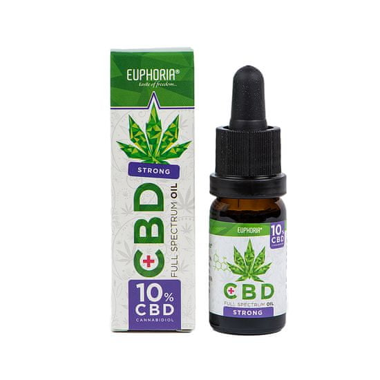 EUPHORIA CBD konopný olej full spectrum 10% 1000 mg 10 ml