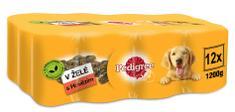 Pedigree konzerva s hovězím v želé 12 x 1,2 kg