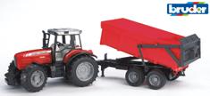 Bruder 2045 Traktor Massey Ferguson s ploščadjo