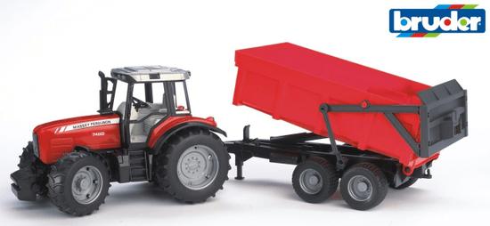 Bruder 2045 Traktor Massey Ferguson s platformom