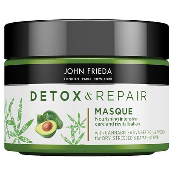John Frieda Detox maska za poškodovane lase Detox & Repair (Masque) 250 ml