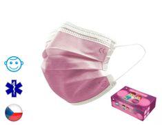 General Public s.r.o. 25x General Public Protection třívrstvá jednorázová dětská rouška S růžová