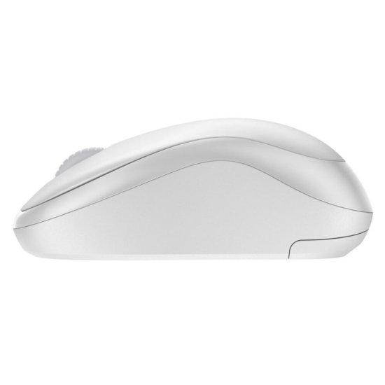 Logitech M220 Silent brezžična miška, bela