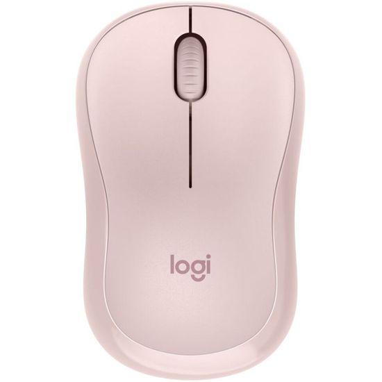 Logitech M220 Silent brezžična miška, roza