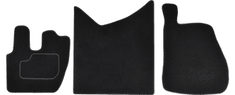 MAMMOOTH Koberce textilní, Renault RVI Premium II od r. 2005, černé, sada 3 ks