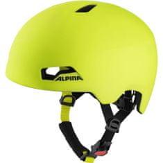 Alpina Sports Hackney otroška kolesarska čelada, rumena, 47 - 51