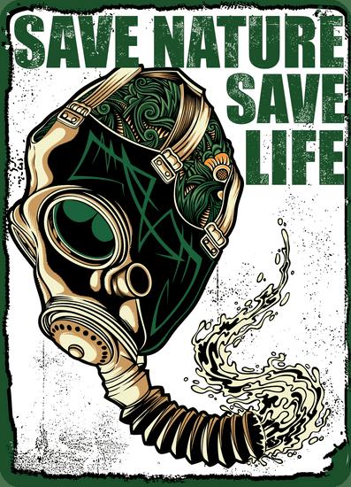 BrinX.cz Save Nature / Save Life - Pánská trička
