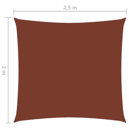 shumee Obdĺžniková plachta Oxford Oxford Cloth 2x2,5 m terakota