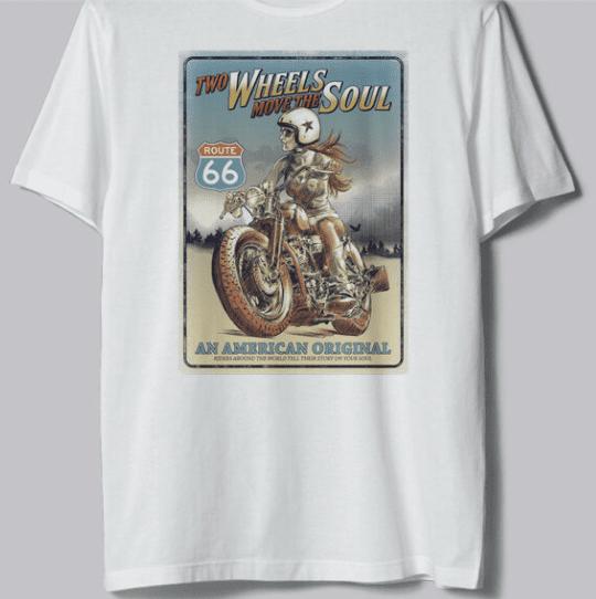 BrinX.cz ROUTE 66 nové motorkářské tričko