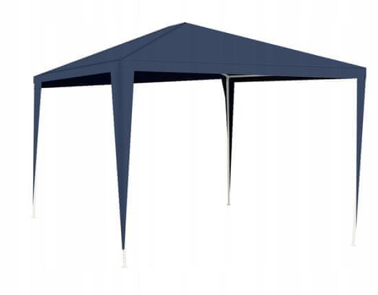 Záhradný stan altánok 3x3m modrý
