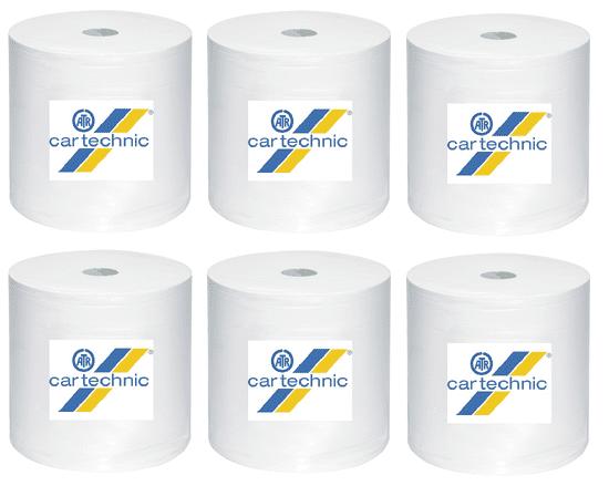 CARTECHNIC Cartechnic Role papierových obrúskov (vnútorný odvíjanie) 1-vrstvové, 300 MTR, WEISS