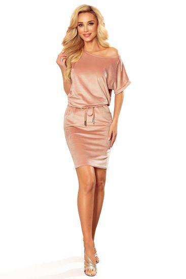 Numoco Női ruha 139-9 + Nőin zokni Gatta Calzino Strech, vén rózsaszín, XL