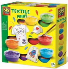SES barve za tekstil, 6 barv